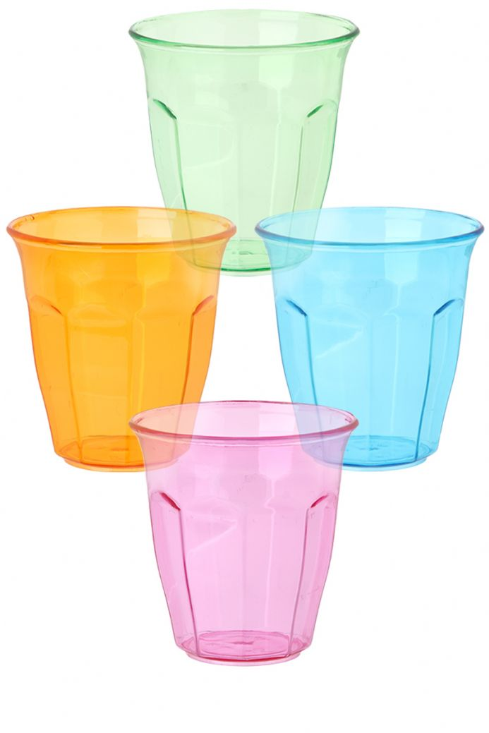 Plastic Party Picnic Tumblers Coloured Camping Drinks Cups